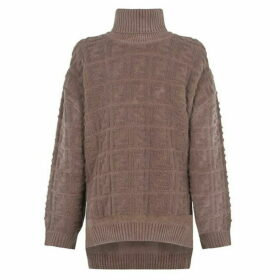 Fendi All Over Flocked Jumper