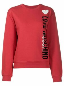 Love Moschino logo print jumper - Red