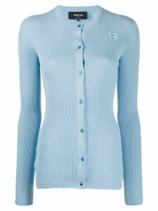 Rochas ribbed knit cardigan - Blue