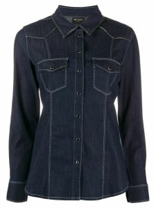 Twin-Set slim-fit denim shirt - Blue