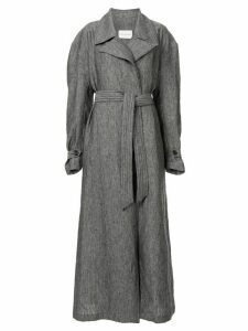 Strateas Carlucci Meta textured trench coat - Grey