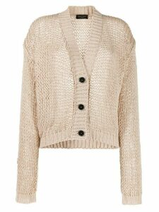 Roberto Collina oversized fit cardigan - NEUTRALS