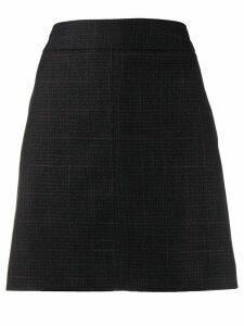 See by Chloé check print skirt - Blue