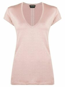Tom Ford v-neck T-shirt - PINK