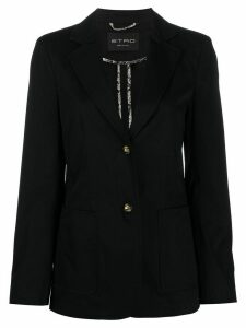 Etro single-breasted slim-fit blazer - Black