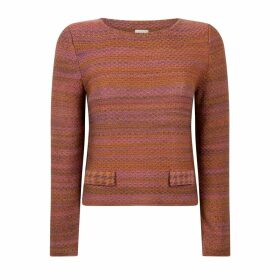STUDIO MYR - Boatneck Woollen Jumper In Audrey Hepburn Style Tweed-Heather