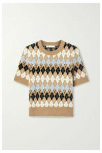 Maje - Argyle Wool-blend Top - Brown