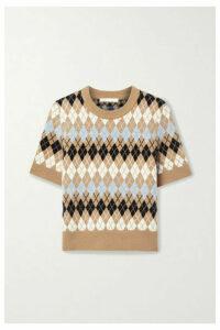 Maje - Argyle Wool-blend Top - Brown