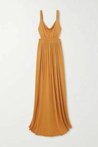 Matteau - + Net Sustain Gathered Jersey Maxi Dress - Saffron
