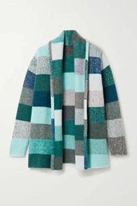 The Elder Statesman - Striped Cashmere Cardigan - Blue