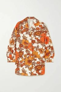 Dodo Bar Or - Lenny Floral-print Cotton Shirt - Orange