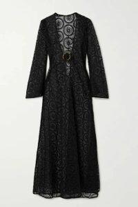 Dodo Bar Or - Jane Crocheted Cotton Maxi Dress - Black