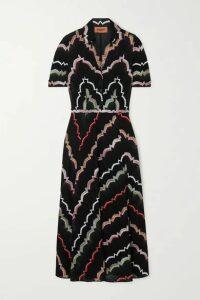 Missoni - Crochet-knit Cotton-blend Midi Dress - Black