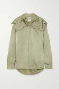 Bottega Veneta - Satin-twill Shirt - Green