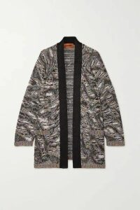 Missoni - Sequined Metallic Jacquard-knit Cardigan - Silver