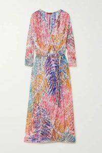 Missoni - Printed Crochet-knit Robe - Pink