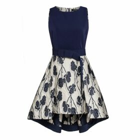 At Last. - Karen Silk Shirt- Green Flower