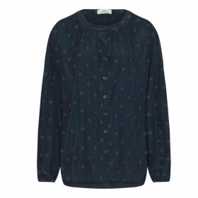 Allora - Jacquard Claremont Blouse - Navy