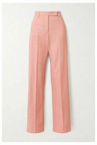 Salvatore Ferragamo - Woven Straight-leg Pants - Baby pink
