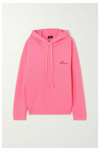 we11done - Oversized Appliquéd Printed Cotton-jersey Hoodie - Pink