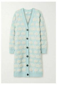 Lanvin - Oversized Jacquard-knit Cardigan - Sky blue