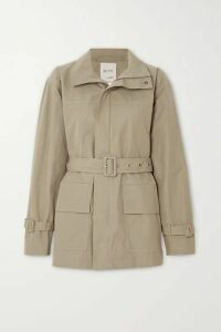 BITE Studios - + Net Sustain Belted Organic Cotton-drill Jacket - Army green