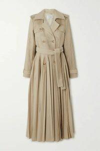 Gabriela Hearst - Stein Pleated Cotton-poplin Trench Coat - Beige