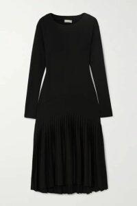 BITE Studios - + Net Sustain Pleated Organic Cotton-blend Jersey Dress - Black