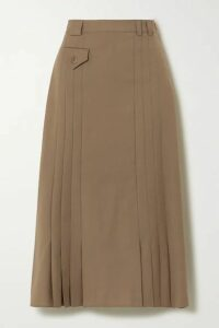 Envelope1976 - Christiania Pleated Wool Midi Skirt - Tan