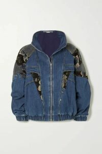Stella McCartney - Patchwork Denim, Jacquard And Cotton-corduroy Jacket - Blue