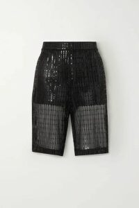 we11done - Sequined Tulle Shorts - Black