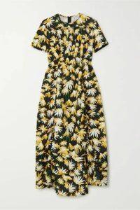 Loewe - Floral-print Cotton Midi Dress - Yellow