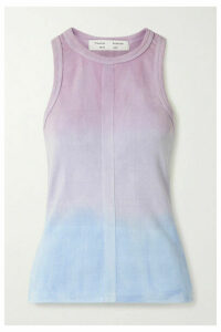 Proenza Schouler White Label - Ribbed Tie-dyed Cotton Tank - Lavender