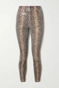 RtA - Madrid Snake-effect Leather Skinny Pants - Snake print