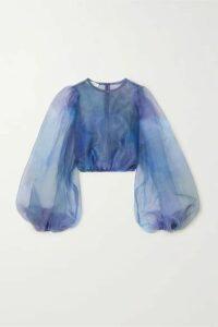 Beaufille - Nebula Organza Blouse - Blue