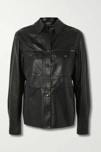 TOM FORD - Leather Shirt - Black