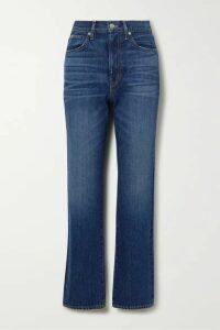 SLVRLAKE - London High-rise Straight-leg Jeans - Dark denim