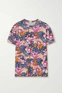 Mary Katrantzou - Tierny Floral-print Cotton-jersey T-shirt - Pink