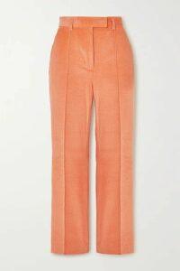 Acne Studios - Cropped Cotton-blend Corduroy Straight-leg Pants - Orange