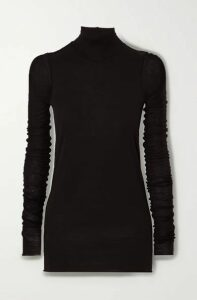 Rick Owens - Lillies Stretch-jersey Turtleneck Top - Black