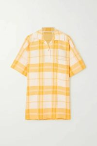 Jacquemus - Torchon Oversized Checked Cotton-blend Shirt - Yellow