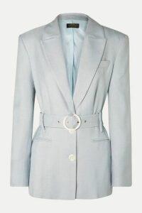 De La Vali - Hawkins Belted Woven Blazer - Sky blue
