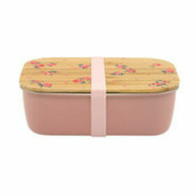 Wimbourne Ditsy Stainless Steel Lunch Box with Bamboo Lid