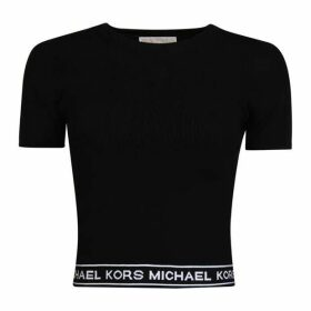 MICHAEL Michael Kors Logo Tape Crop Top
