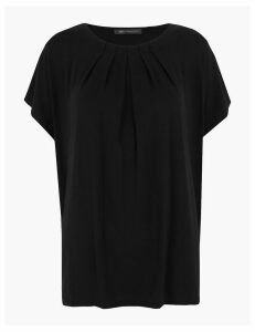 M&S Collection Draped Short Sleeve Top