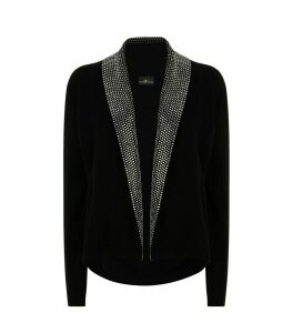 Embellished Open Front Cardigan