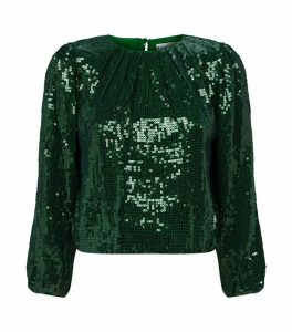 Avila Sequin Blouson Top