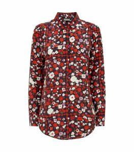 Silk Floral Print Shirt