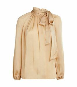 Super Eight Silk Tie Blouse
