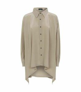 Asymmetric Silk Shirt